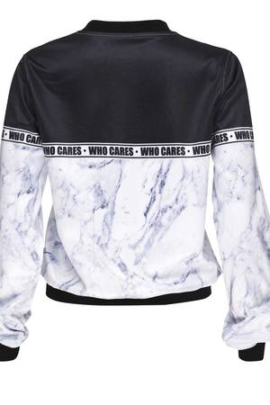 Who Cares - Baseball Jacket Marlble