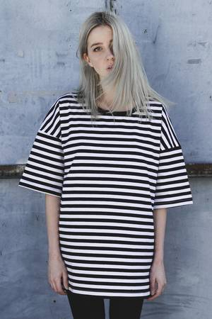 Oversized stripes tee