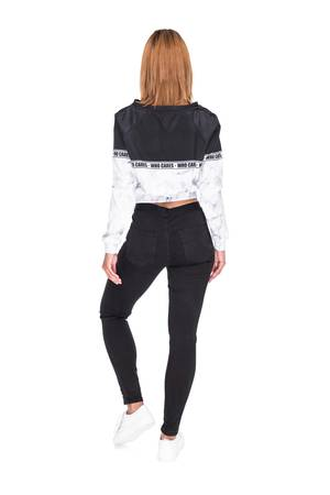 Who Cares - Sweatshirt Crop Marble