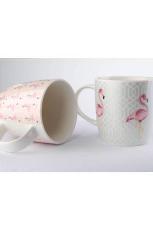 MIA home passion - Kubek Porcelanowy Flamingi 2 Szt.