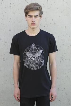 The Hive - MOTH TEE IN WASHED BLACK
