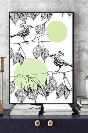 Parallel World - LITTLE BIRDS... ART PRINT A4