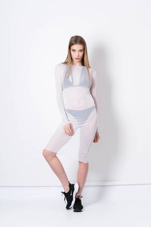 REST_FActory - White mesh dress