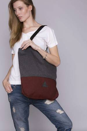 drops - torba basic popiel bordo