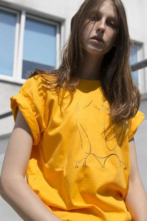 REST_FActory - NO SHAME YELLOW T-SHIRT