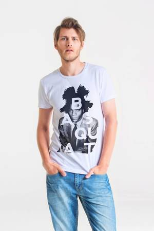 GAU great as You - BASQUIAT ARTIST - t-shirt męski biały
