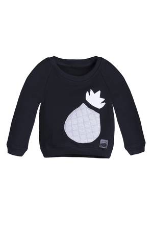 Black sheep bluza z ananasem czarna