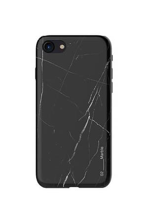 Creattack - Etui na iPhone 7 – Black Marble