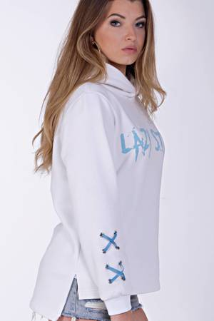 Lazy star white sweatshirt