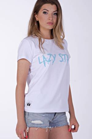 Lazy star white t shirt