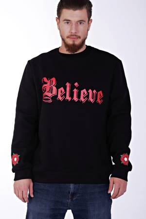 Believe black sweatshirt