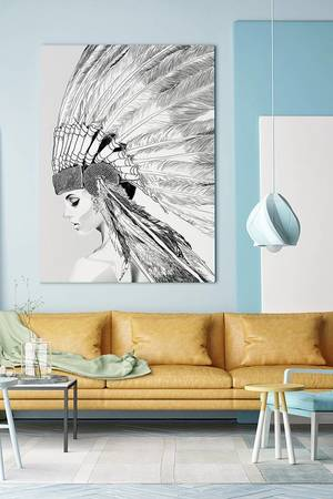 ONWALL - OBRAZ INDIAN GIRL 100cm x 150cm