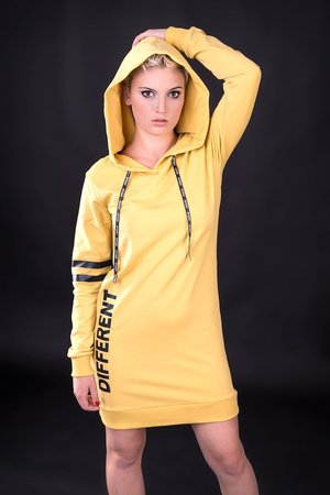 Sukienka dresowa different yellow