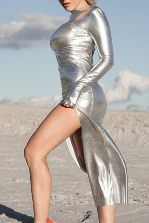 REST_FActory - Mirror silver maxi dress