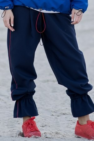 Dark blue flou joggers