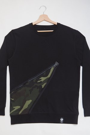 Bluza full of zip camo