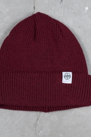 Fisherman beanie in burgund