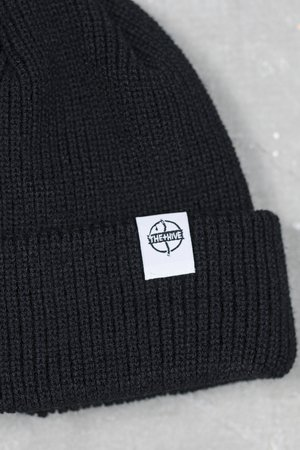 The Hive - FISHERMAN BEANIE IN BLACK