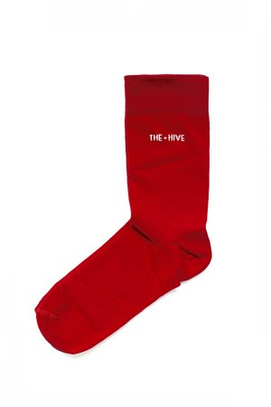 Hive socks in red