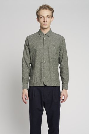 Green grey thick overshirt