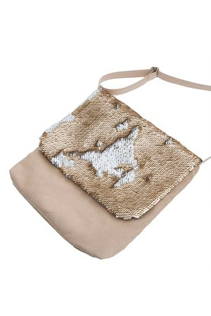 Gold chameleon cross body bag