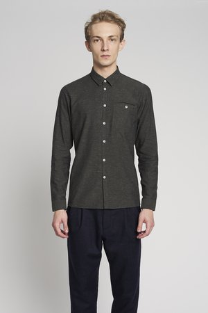 Slim dark moss green shirt