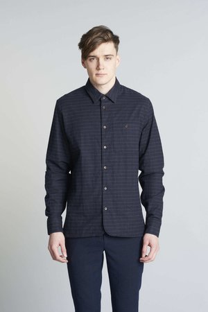 Strong black flannel shirt