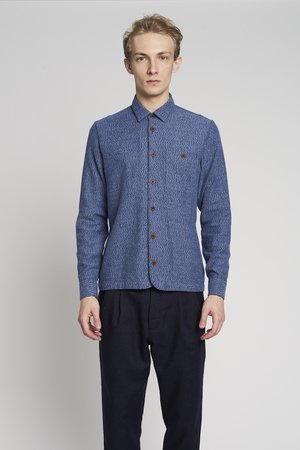 Delikatessen - STRONG MID-BLUE FLANNEL SHIRT