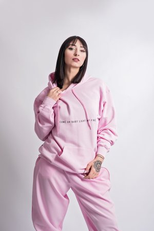REST_FActory - 'Come on baby' pink hoodie