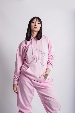 REST_FActory - NO SHAME PINK HOODIE