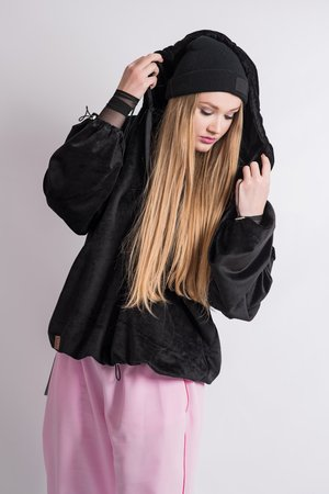 REST_FActory - FLUFFY BLACK HOODIE