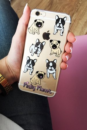 Pinky Planet - Iphone case Frenchies love Pugs 6 6s 7 8