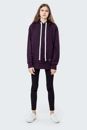 MALE-ME - Bluza bawełniana z kapturem Basic Purple