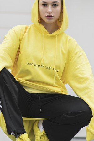 REST_FActory - 'Come on baby' yellow hoodie