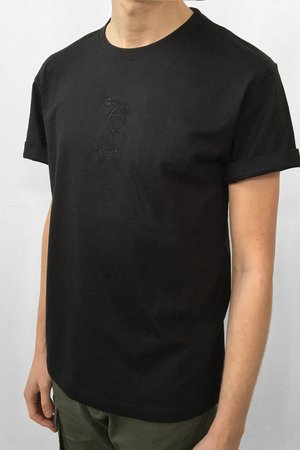 MSZZ - SPORT EMBRIODERED TEE Black
