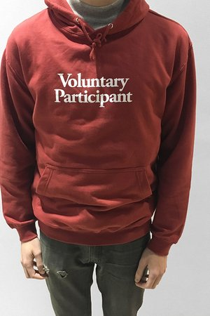 Volunteer deep red hoodie