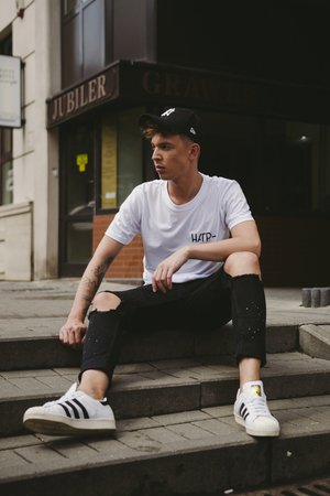T shirt white basic man