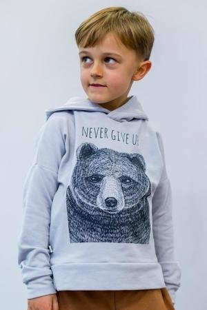 Mizerki kids - Bluza never give up popiel