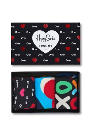 Giftbox 3 pak skarpetki happy socks xhea08 9000