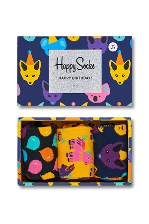 Giftbox 3 pak skarpetki happy socks xbda08 9000