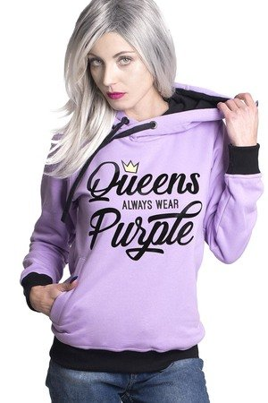 ŁAP NAS - Bluza Queens always wear Purple