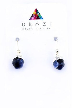 Earrings sodalit srebro