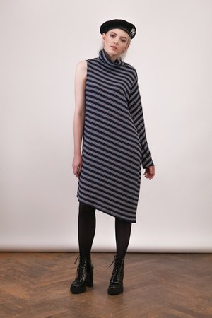 Girl Little Boy - Sukienka One Sleeve Stripes