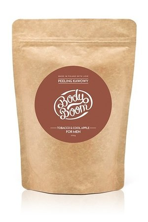 BodyBoom - FOR COOL MEN TOBACCO & COOL APPLE - PEELING KAWOWY - COFFEE SCRUB