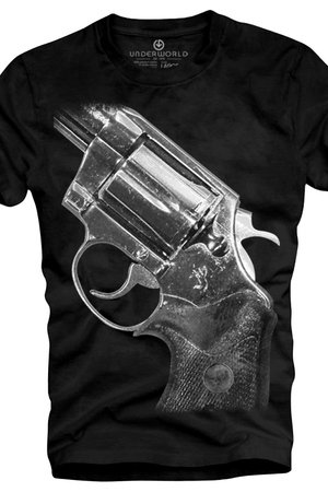 T shirt underworld ring spun cotton gun