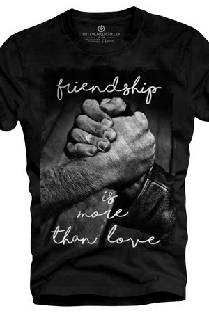 T shirt underworld ring spun cotton friendship