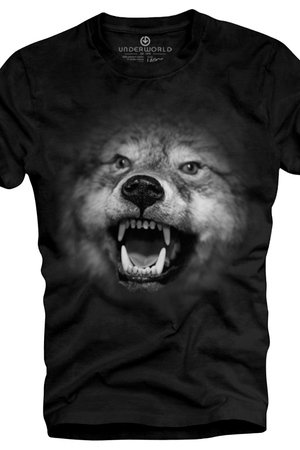 T shirt underworld ring spun cotton wolf