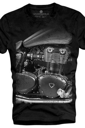 T shirt underworld ring spun cotton motorcycle