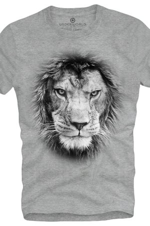 T shirt underworld ring spun cotton lion