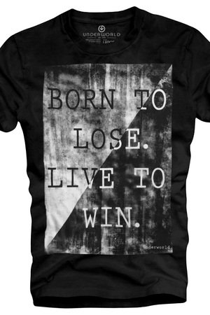 T shirt underworld ring spun cotton born to lose